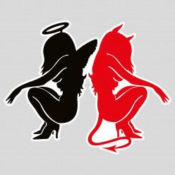 Stickers angel et devil