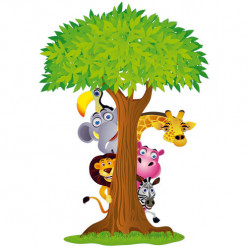 Stickers Arbre Animaux