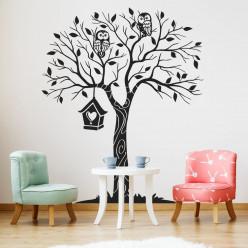 Stickers arbre hiboux