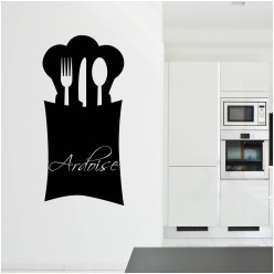 (Stickers ardoise cuisine couverts