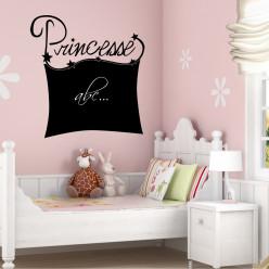 Stickers ardoise princesse