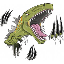 Stickers attaque dinosaure
