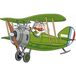 Stickers avion hélice