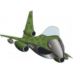Stickers avion militaire