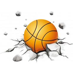 Stickers ballon de basketball