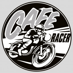 Stickers cafe racer