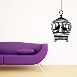 Stickers Cage Oiseaux