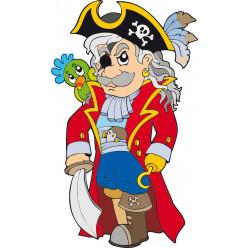 Stickers capitaine pirate