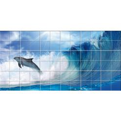 Stickers carrelage dauphin