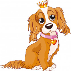 Stickers chiot princesse
