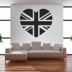 Stickers coeur anglais