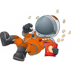 Stickers cosmonaute en apesanteur