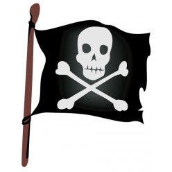 Stickers Drapeau Pirate
