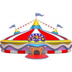 Stickers effet 3D- Chapiteau de cirque