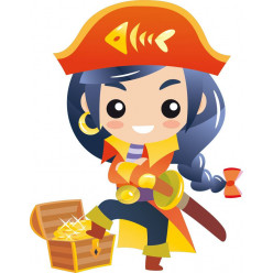 Stickers fille pirate
