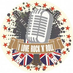 Stickers i love rock'n'roll