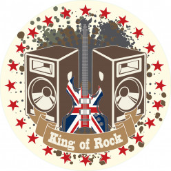 Stickers king of rock