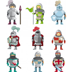 Stickers kit 9 chevaliers