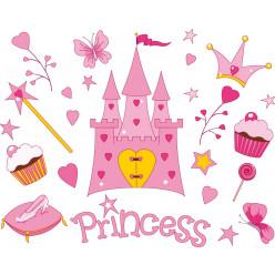 Stickers kit accessoires princesse