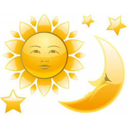 Stickers lune et soleil