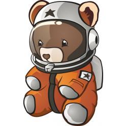 Stickers ourson cosmonaute
