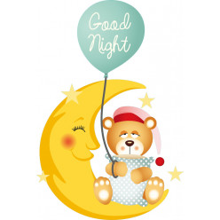 Stickers ourson good night