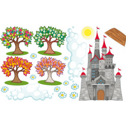 Stickers paysage chateau