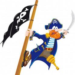 Stickers pirate et drapeau