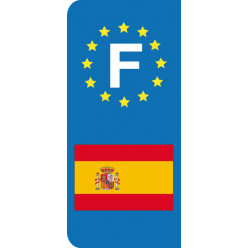 Stickers Plaque Espagne