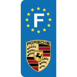 Stickers Plaque Porsche