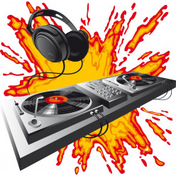 Stickers platine dj