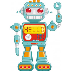 Stickers robot hello