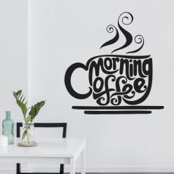 Stickers tasse morning coffee