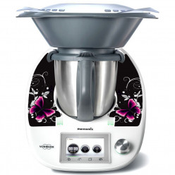 Stickers Thermomix TM 5 Papillons Black