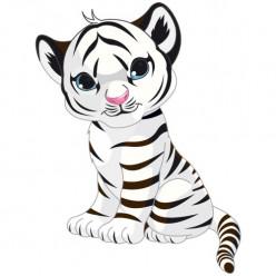 Stickers Tigre Blanc Ozia