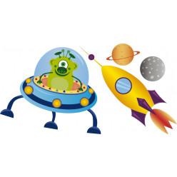 Stickers vaisseau et fusée