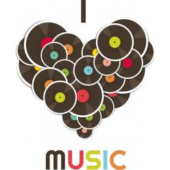 Stickers vinyl coeur