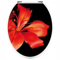 Stickers WC Fleur Rouge