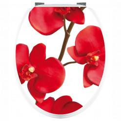 Stickers WC Orchidée Rouge