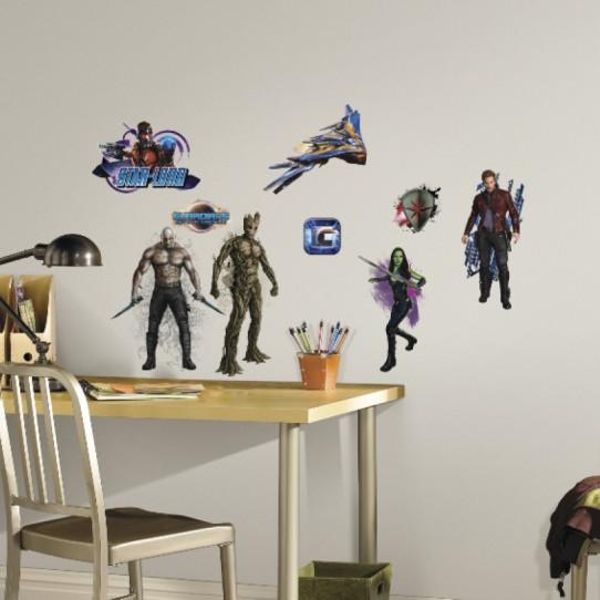 18 Stickers Les Gardiens de la Galaxie Marvel