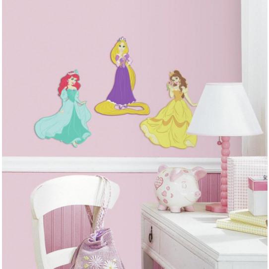 3 Stickers Princesses Disney 3D Relief Mousse