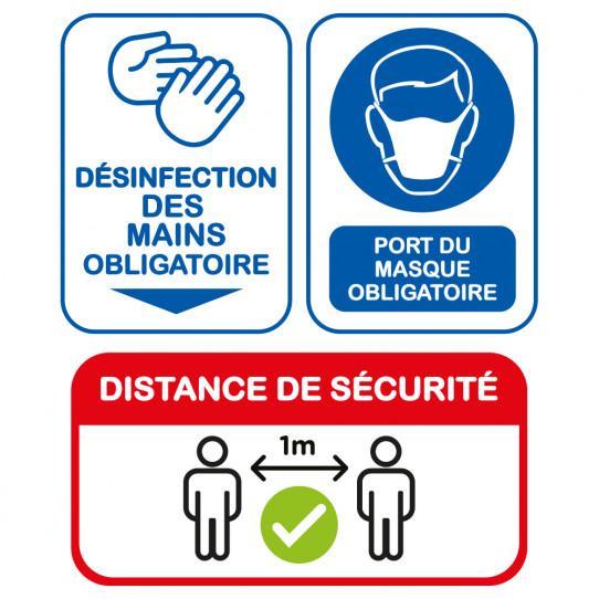 Kit Stickers COVID - Désinfection des mains