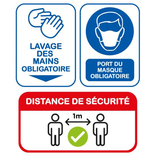 Kit Stickers COVID - Lavage des mains