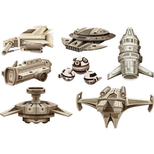 Kit Stickers vaisseaux spatiaux
