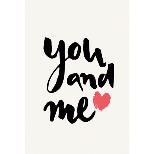 Poster - Affiche you and me
