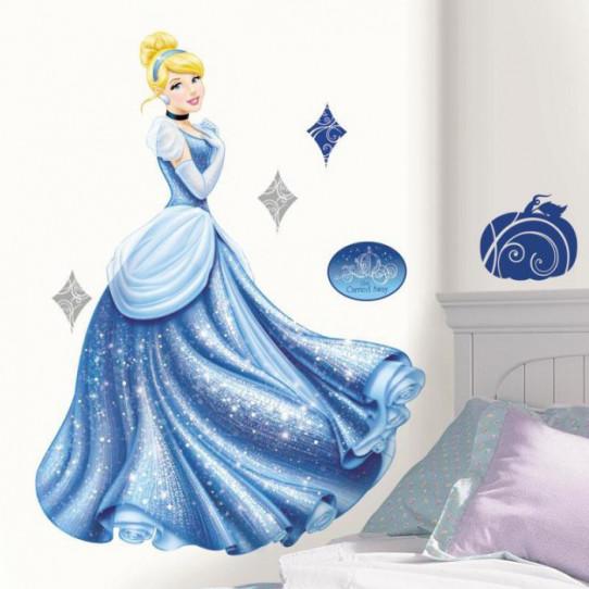 Sticker géant Glamour Princesse Cendrillon Disney
