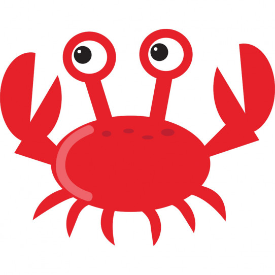 Stickers crabe