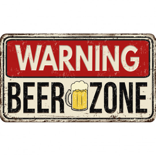 Stickers Cuisine Warning Beer Zone