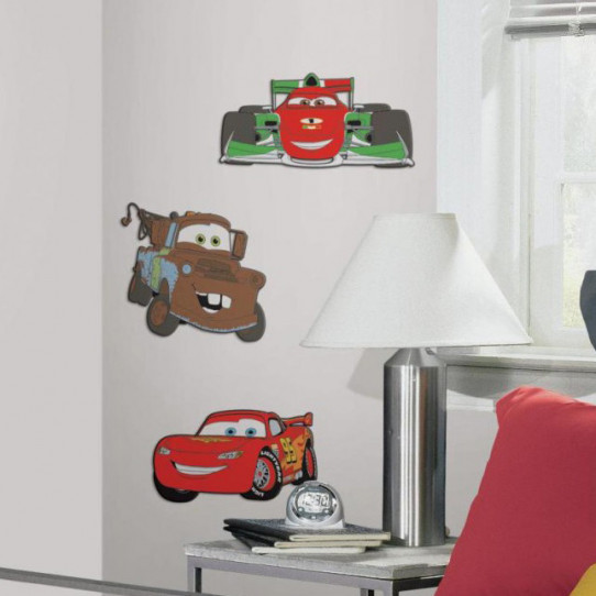Stickers DISNEY CARS 2 Relief 3D Mousse
