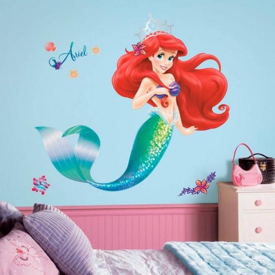 Stickers géant Ariel La Petite Sirène Disney